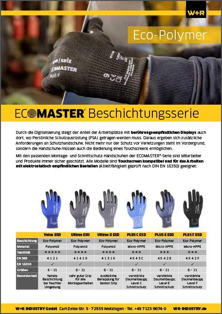 Flyer ECOMASTER-Beschichtungsserie