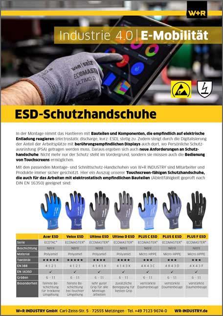 Flyer ESD-Schutzhandschuhe
