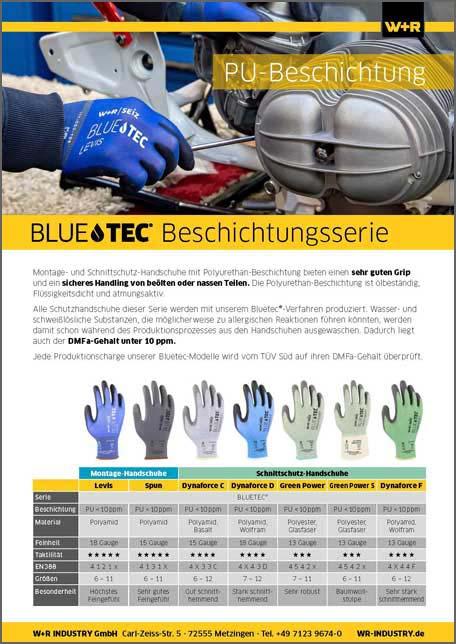 Flyer Bluetec-Beschichtungsserie