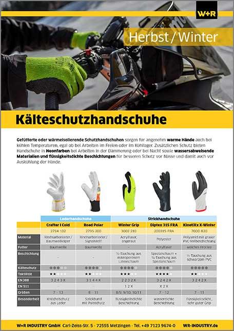 Flyer Kälteschutz-Handschuhe
